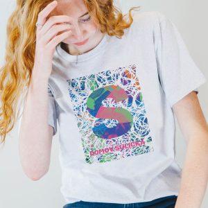 Bílé tričko s motivem S