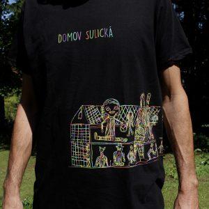 Černé unisex tričko s oboustranným příběhem